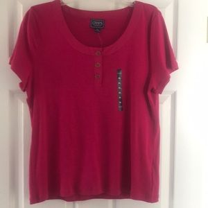 Chaps XL Fuschia T Shirt New with tags